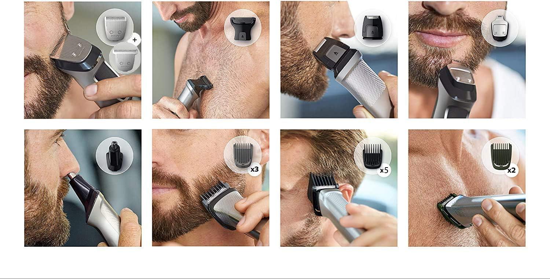 Philips Barbero MG7720/15 Recortador de barba y pelo, óptima precisión, 14 en 1 tecnología Dualcut, autonomía de 120 minutos, batería, Negro/Plata: Philips: Amazon.es: Salud y cuidado personal