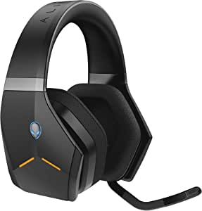 Alienware Wireless Gaming Headset–Aw988 –7.1 Surround Sound- RGB Alienfx -Boom Noise-Cancelling Mic -sports Fabric Earcups -Works W/ PS4, Xbox One, Nintendo Switch & Mobile Devices Via 3.5mm Connector