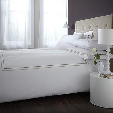 Charlotte Thomas CP23111 -Juego de sábanas y Fundas de Almohada, algodón y Percal de 135 x 190 cm, Bordado, Color Blanco: Amazon.es: Hogar