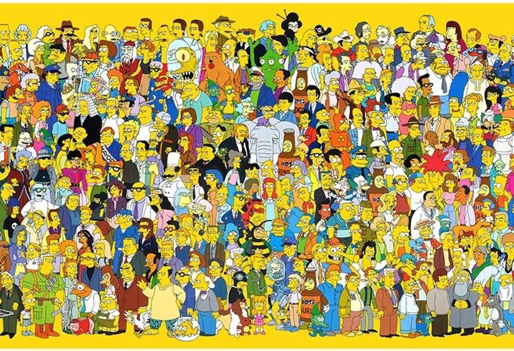 Jqchw Rompecabezas de madera de alta definici/ón Impreso cartel Jigsaw Puzzle 1000 unidades Inicio juego de puzzle rompecabezas animado for adultos Simpson descompresi/ón Inteligencia Juguetes Puzzle Co