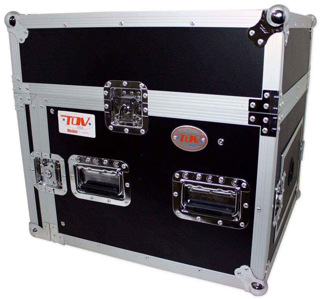 Pro X T-8MRSS 8U x 10U Space Slant Combo DJ ATA 300 Rack Flight Case