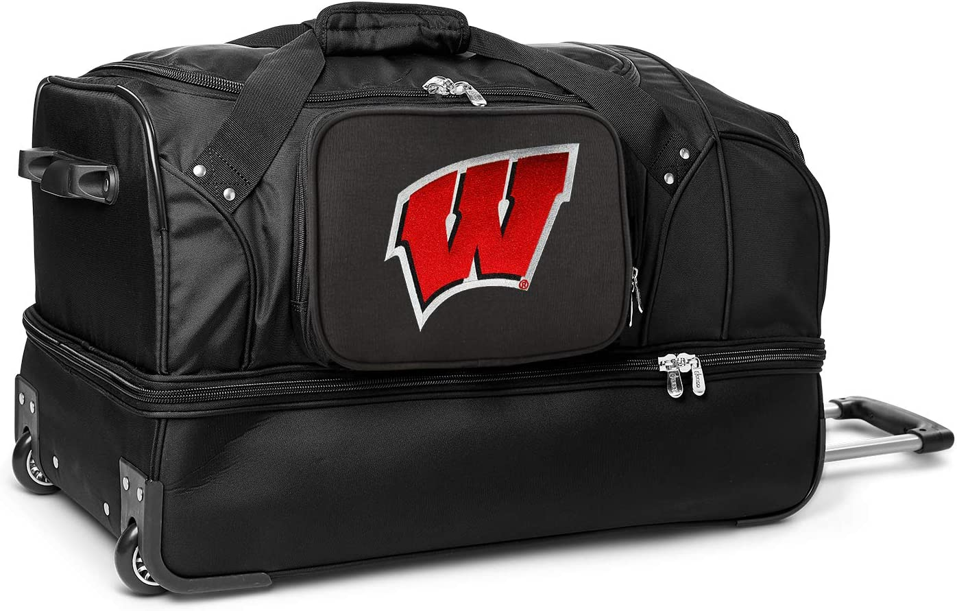 NCAA Wisconsin Cheap mail order Cheap bargain sales Badgers Rolling Bag Duffel Drop-Bottom