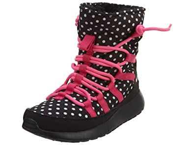 sale retailer a207a d2a02 Image Unavailable. Image not available for. Color  Nike Roshe One Hi Print  Big Kids Style Shoes   807744, Black Pink Pow