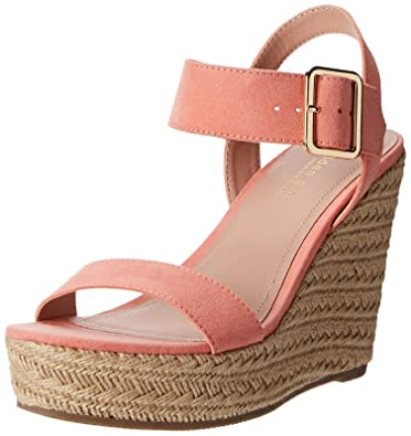 5b01ae556b9 Madden Girl Women s Vail Espadrille Wedge Sandal Coral Fabric 6.5 ...