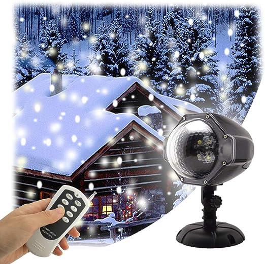 Luz de la caída de nieve del LED Control remoto Navidad Nieve ...