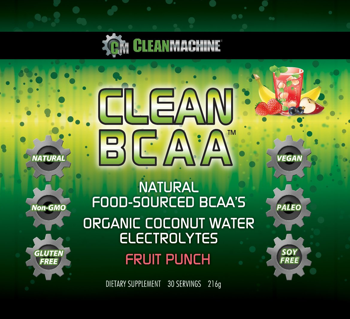 Clean Machine BCAA Fruit Punch Powder, 30 Count by Clean Machine (Image #2)