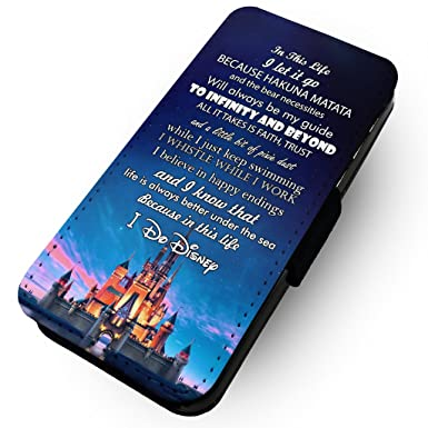 check out a2c75 1b965 wtf | In This Life, I Do Disney | Faux Leather Flip Phone Case | (Samsung  Galaxy S9 Plus +)