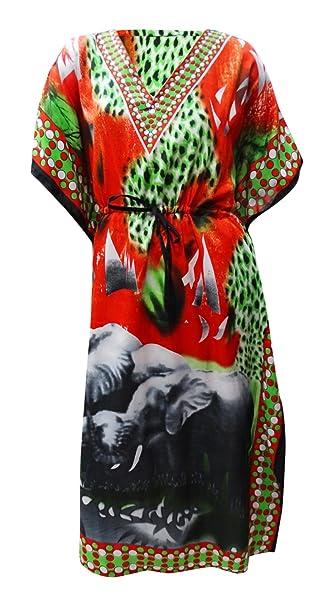 PEEGLI Maxi Kaftano di Abbigliamento Casual da Spiaggia Indiano Caftano  Etnico da Donna  Amazon.it  Abbigliamento 9bf9dc01c149