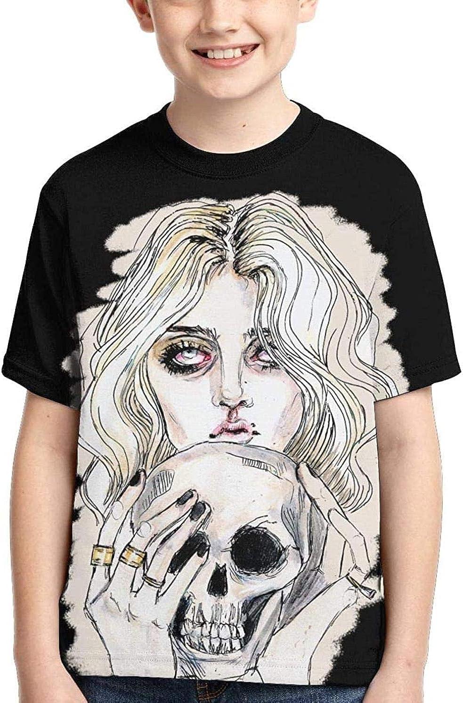 Pennytupu The Pretty Reckless Girl'S Boys' Short Sleeve Crewneck Classic T-Shirt Black