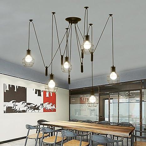 Retro Stile industriale Lampadario Spider Lamp Vintage Lampade a ...