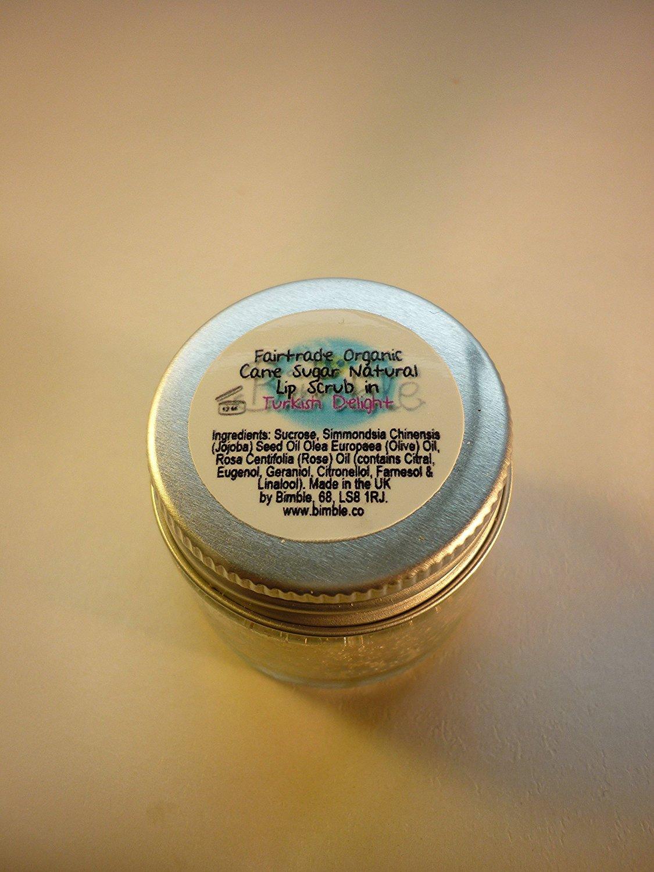 Bimble Organic Raw Cane Sugar Natural Lip Scrub 25g - Turkish Delight Flavour HealthCentre LSTD