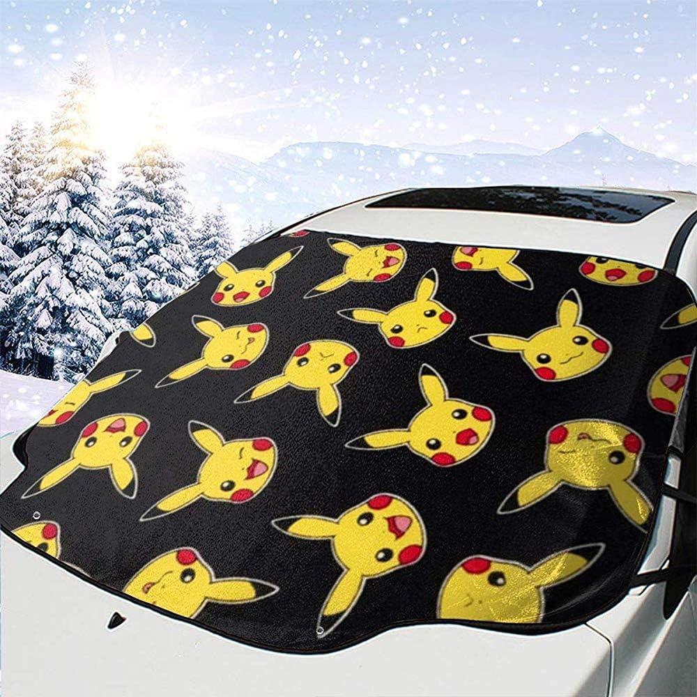 Kaufman Pokemon Pikachu Tela Negra Parabrisas del Coche Nieve Hielo Cubierta de Escarcha Protector de Sombra Solar