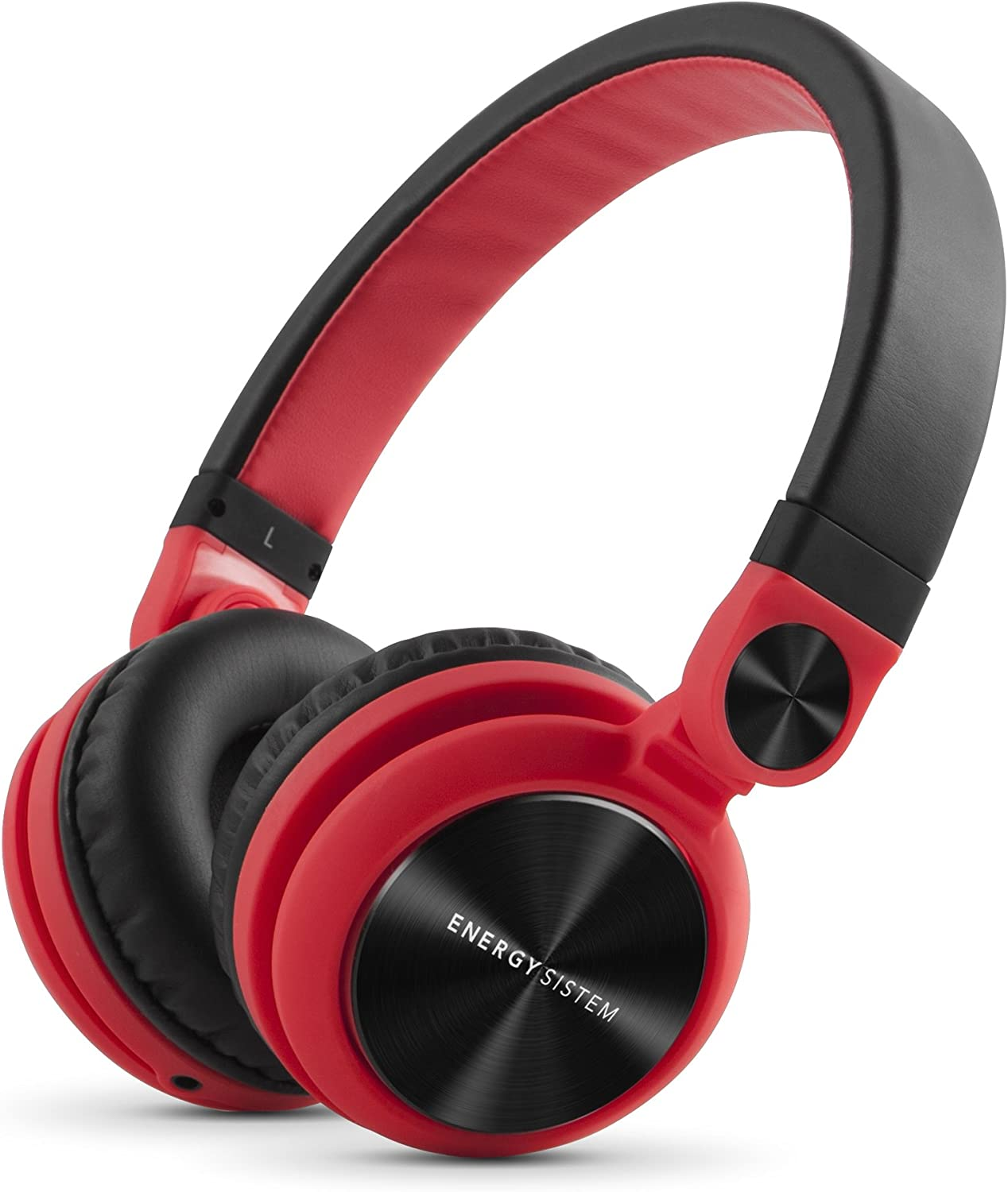 Energy Headphones DJ2 Red (Flip-Up Ear Cups, Detachable Cable, Foldable)