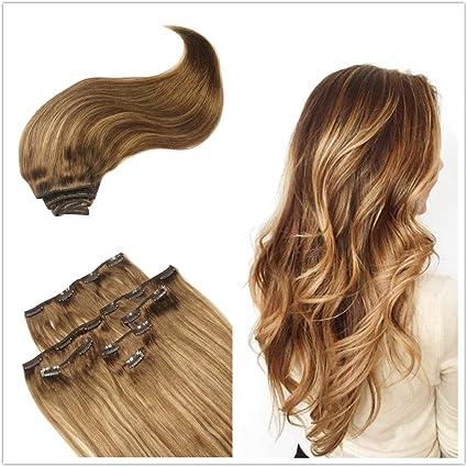 Alizée DIP DYE color rosa oro Clip en extensiones de pelo ...