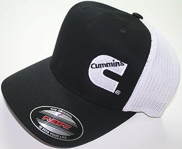 5ef286627bc Image Unavailable. Image not available for. Color  Dodge Cummins Flexfit  Flex Fit Hat Cap Summer Trucker Mesh Black white Fitted