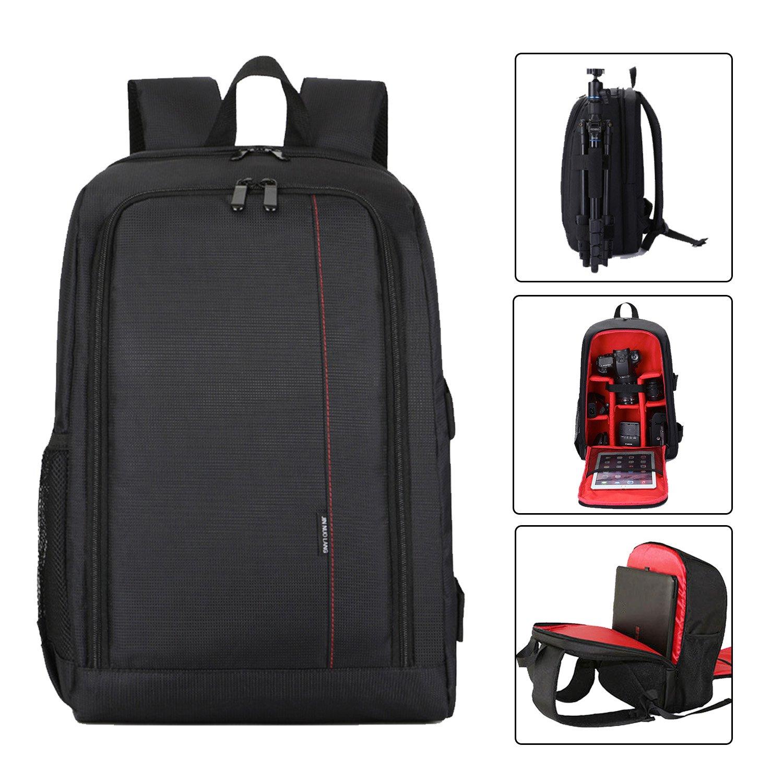 3ee4970dc7 Followsun Professionale Zaino per Fotocamera Borsa per Laptop Nikon Canon  Sony Reflex DSLR e Treppiede, Obiettivo, Flash, Zaino Fotografico  Impermeabile ...
