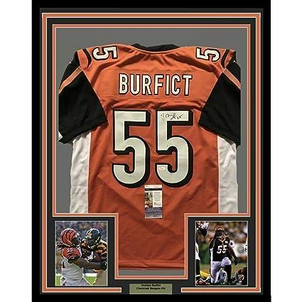 1512c2cebce Vontaze Burfict Signed Jersey - FRAMED 33x42 Orange COA - JSA Certified -  Autographed NFL Jerseys