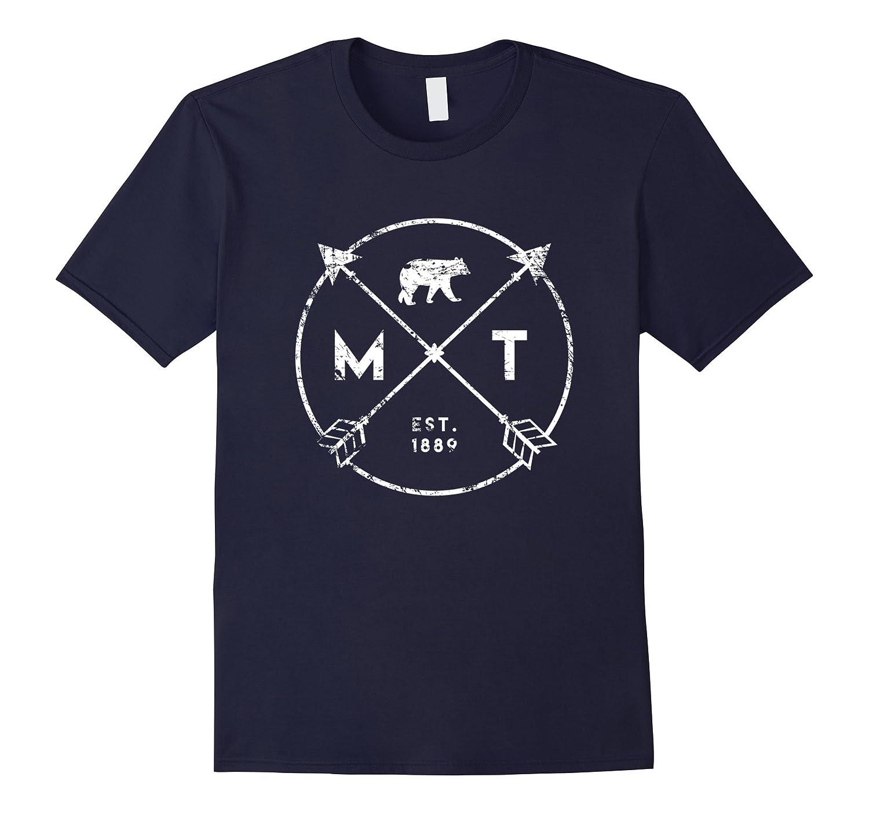 Montana Adventure T Shirt Est 1889 Bear Arrows State Gift-Vaci