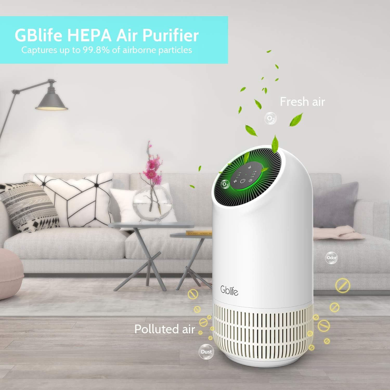 GBlife Hepa purificador de aire de carbono - Filtro de aire de 4 ...