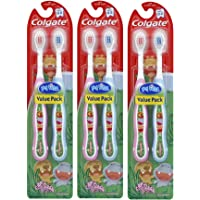 Colgate My First Baby and Toddler Toothbrush, Extra Soft (6 Count)