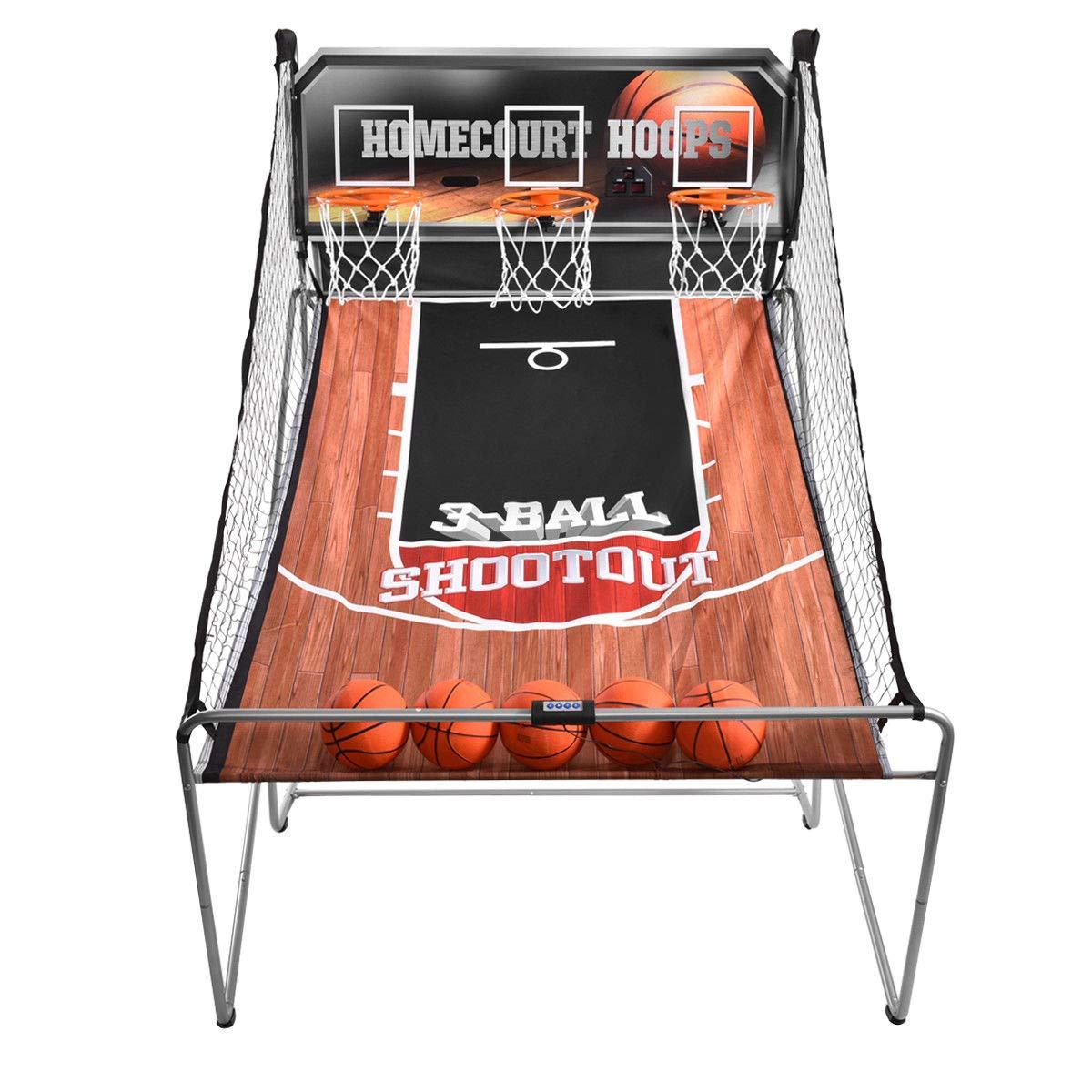 KCHEX>>>インドアバスケットボールアーケードゲームスポーツ電子フープショット3プレーヤークリスマスキッド>当社の3ショット電子バスケットボールゲームはアーケードの楽しさを自宅にもたらします。 楽しいゲーム B07KQKD58T