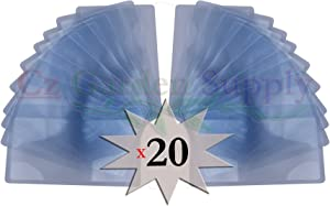 Cz Garden Supply 20 Pack FIRE Starter Fresnel Lens 3X Wallet Magnifier • Credit Card Size - Read Small Print