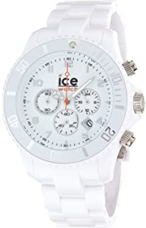 Ice-Watch Mens CH.WE.B.P.09 Chrono Collection White Dial White Strap
