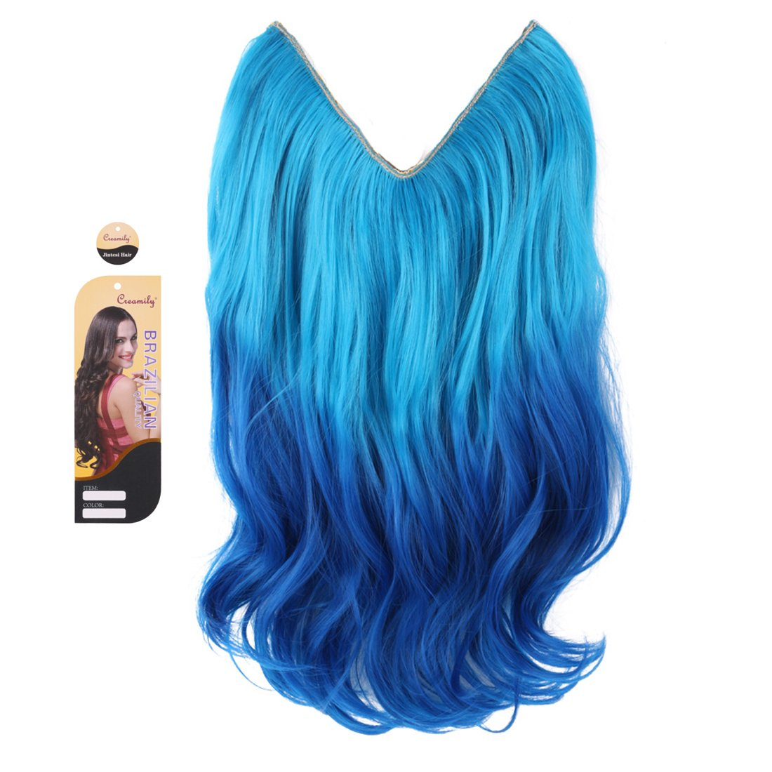 Amazon.com: Creamily Light Blue to Dark Blue Ombre Color Hair ...