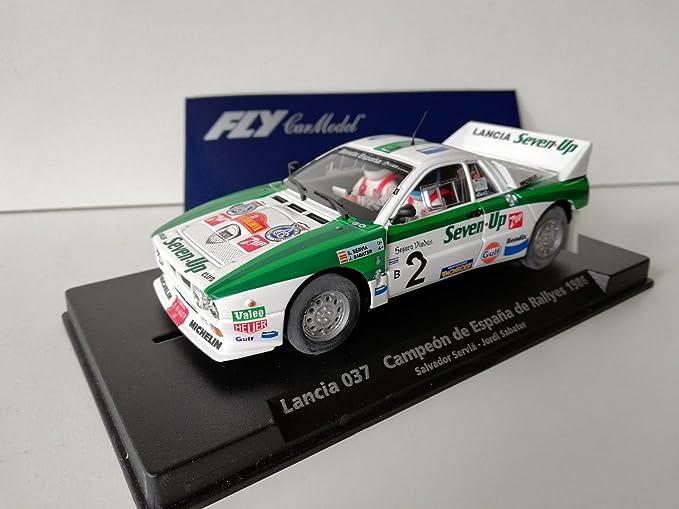 FLy Slot SCX Scalextric 88148 Compatible Lancia 037 Campeón de España de Rallyes 1986 A-991: Amazon.es: Juguetes y juegos