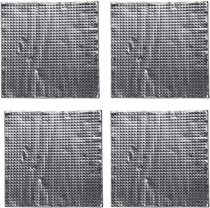 Tubayia - 4 láminas de algodón Autoadhesivas con Aislamiento térmico para Camas Calientes (300 x 300 x 10 mm): Amazon.es: Electrónica