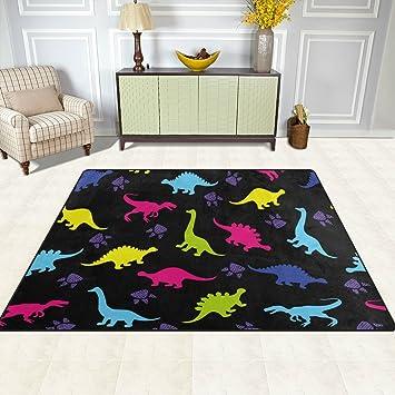 Fesselnd Doshine Bereich Teppiche Matte Teppich 4 U0027X5u0027, Animal Dinosaurier Paw Print  Muster Polyester