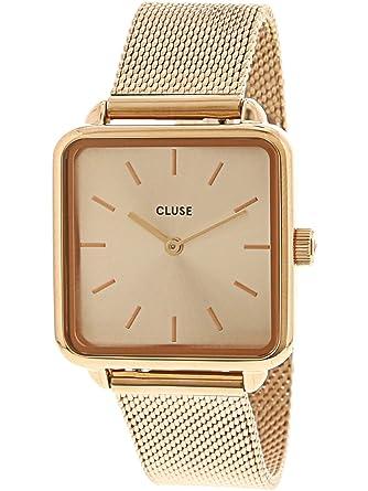 Cluse Reloj Analógico para Mujer de Cuarzo con Correa en Acero Inoxidable CL60013: Amazon.es: Relojes