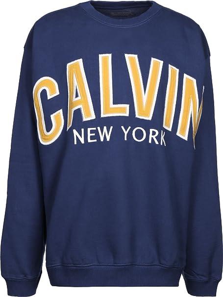 Calvin Klein Jeans Hikos 3 Relaxed Sudadera blue depths: Amazon.es: Ropa y accesorios