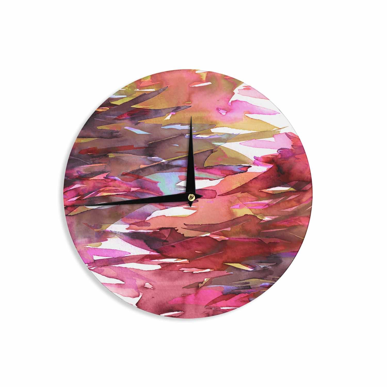 12 Wall Clock Kess InHouse EBI Emporium Fervor 6 Pink Multicolor Watercolor