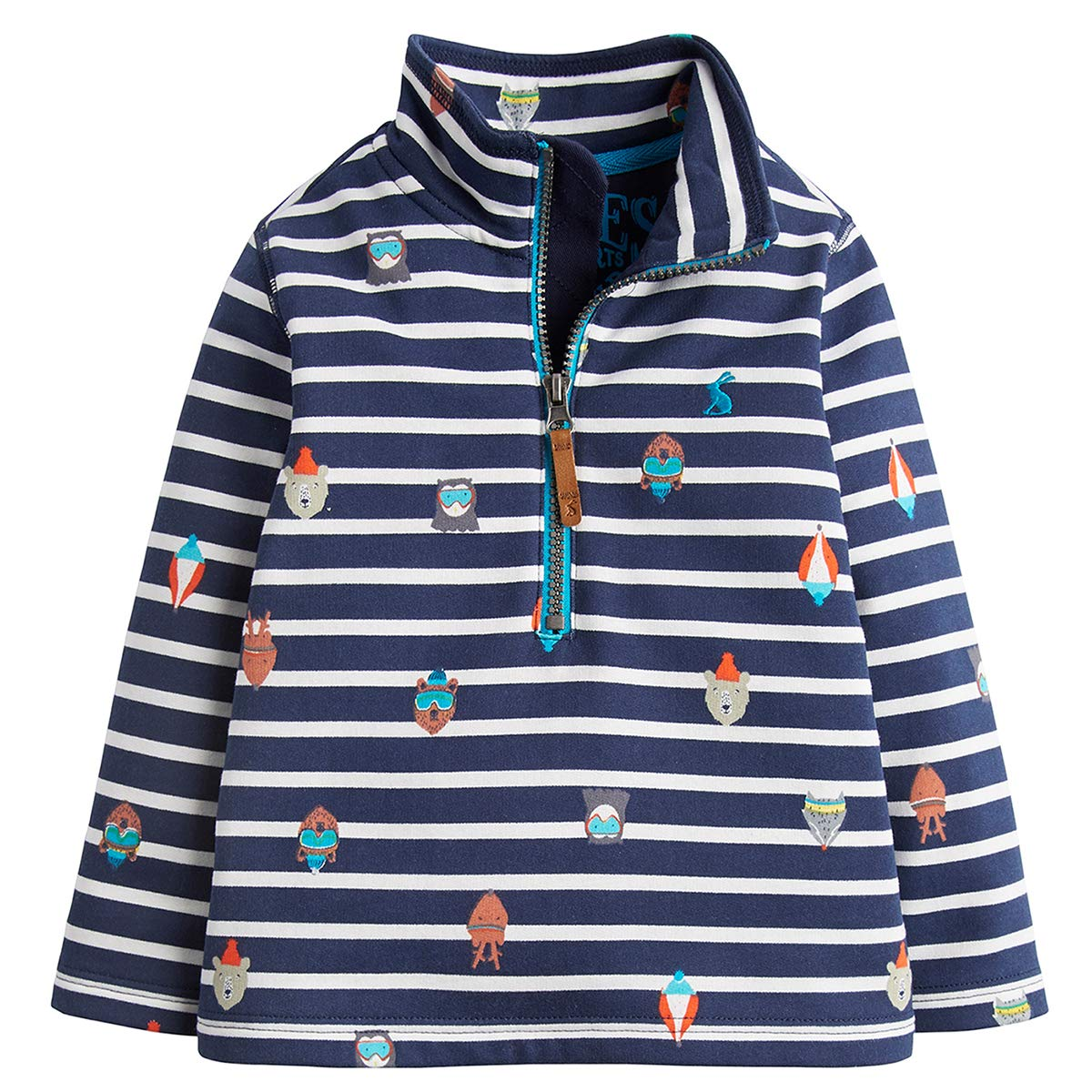 Joules Half Zip Sweatshirt - French Navy Animals