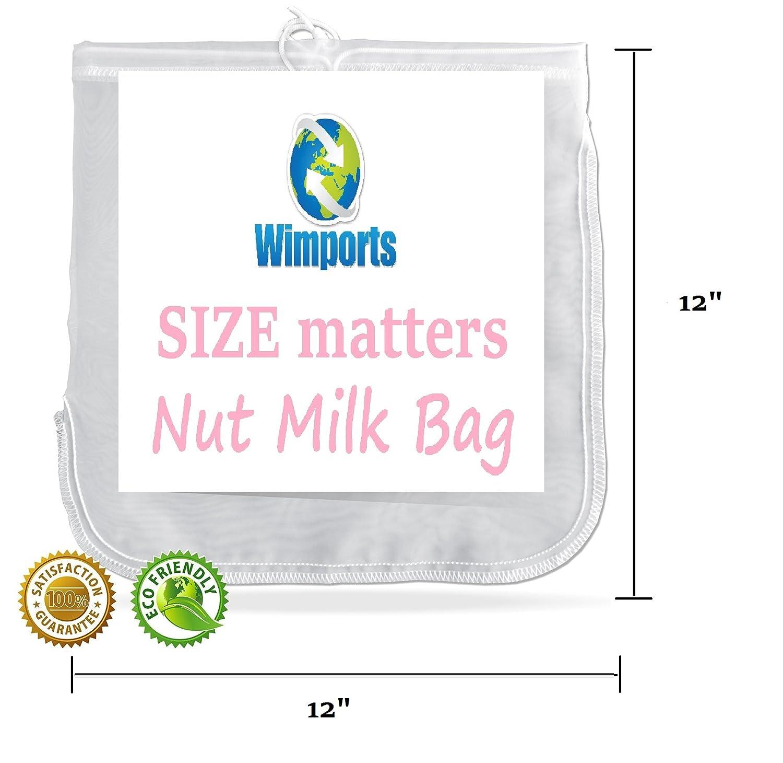 Tuerca de leche bolsa | tamaño Extra grande | bolsa de comida colador | fácil jugo fresco | ideal para hacer queso y para horno |