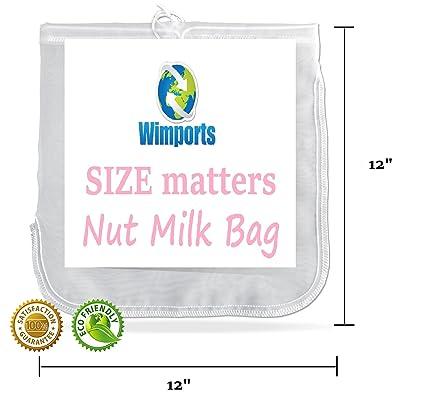Tuerca de leche bolsa | tamaño Extra grande | bolsa de comida colador | fácil jugo