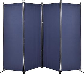 4 Panel Room Divider Folding Privacy Screen Room Dorm Decor Office Divider