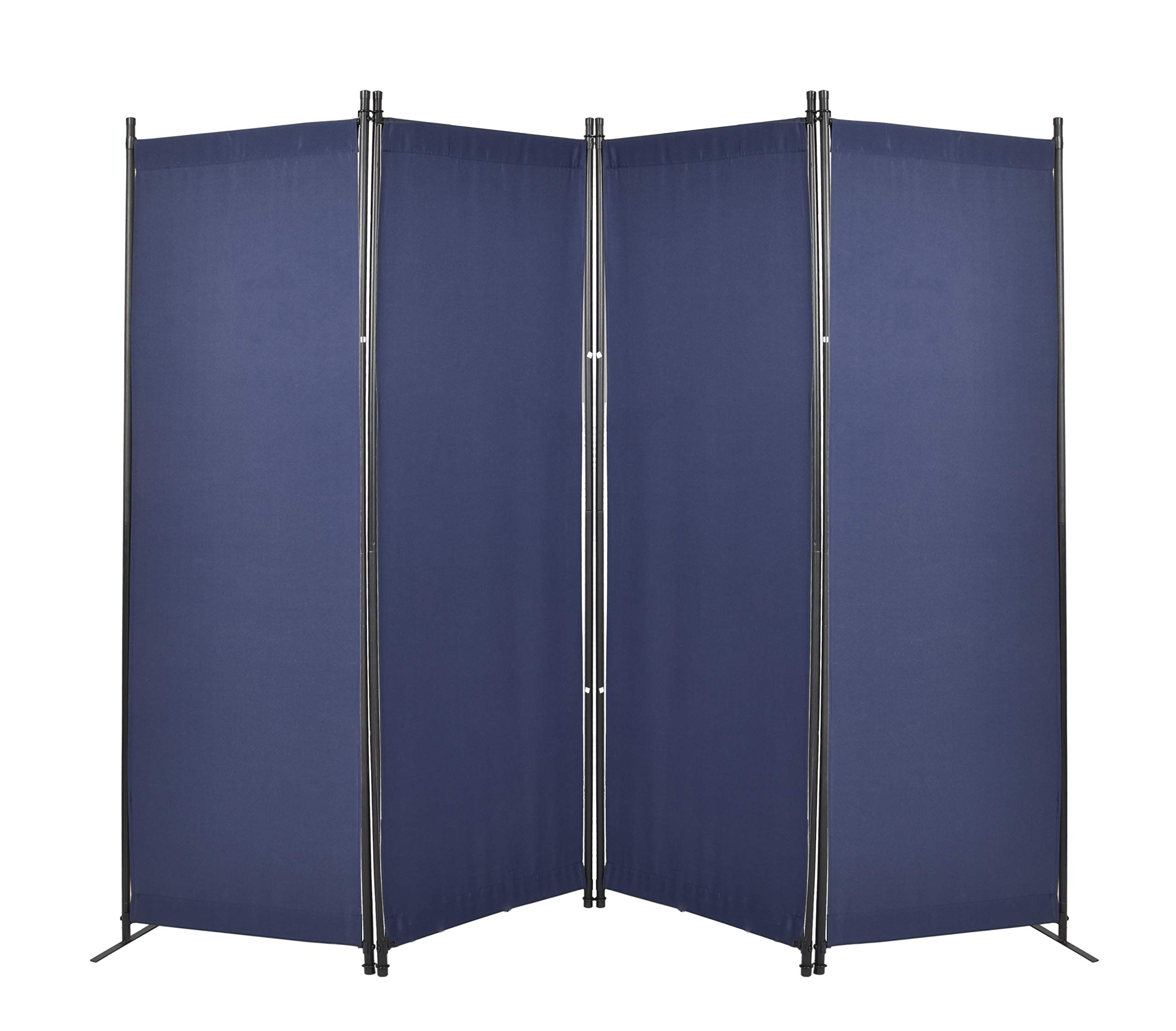 GOJOOASIS 4 Panel Room Divider Folding Privacy Screen Home Office Dorm Decor (Blue) by GOJOOASIS