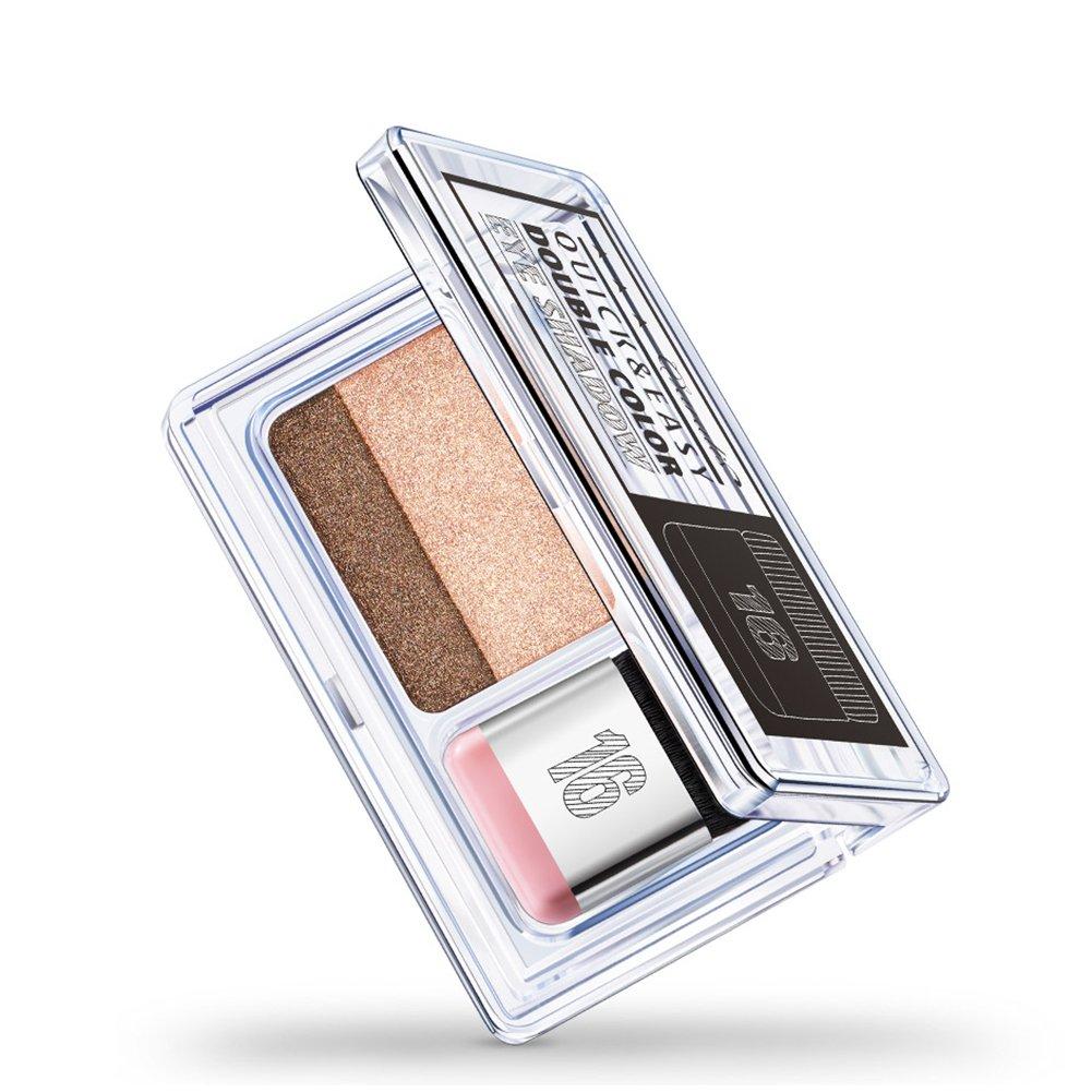 Filfeel Ombretto, 2 colori IDLER Gradual Eyeshadow Powder Palette Shining Matte Glitter Eyeshadow Makeup(#1)