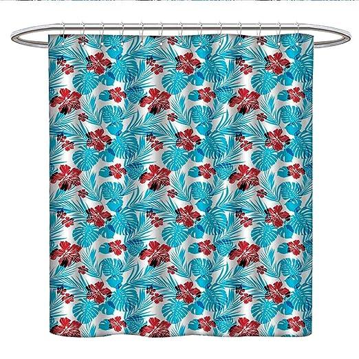 Anniutwo Cortina de ducha con diseño de loto, geometría ...