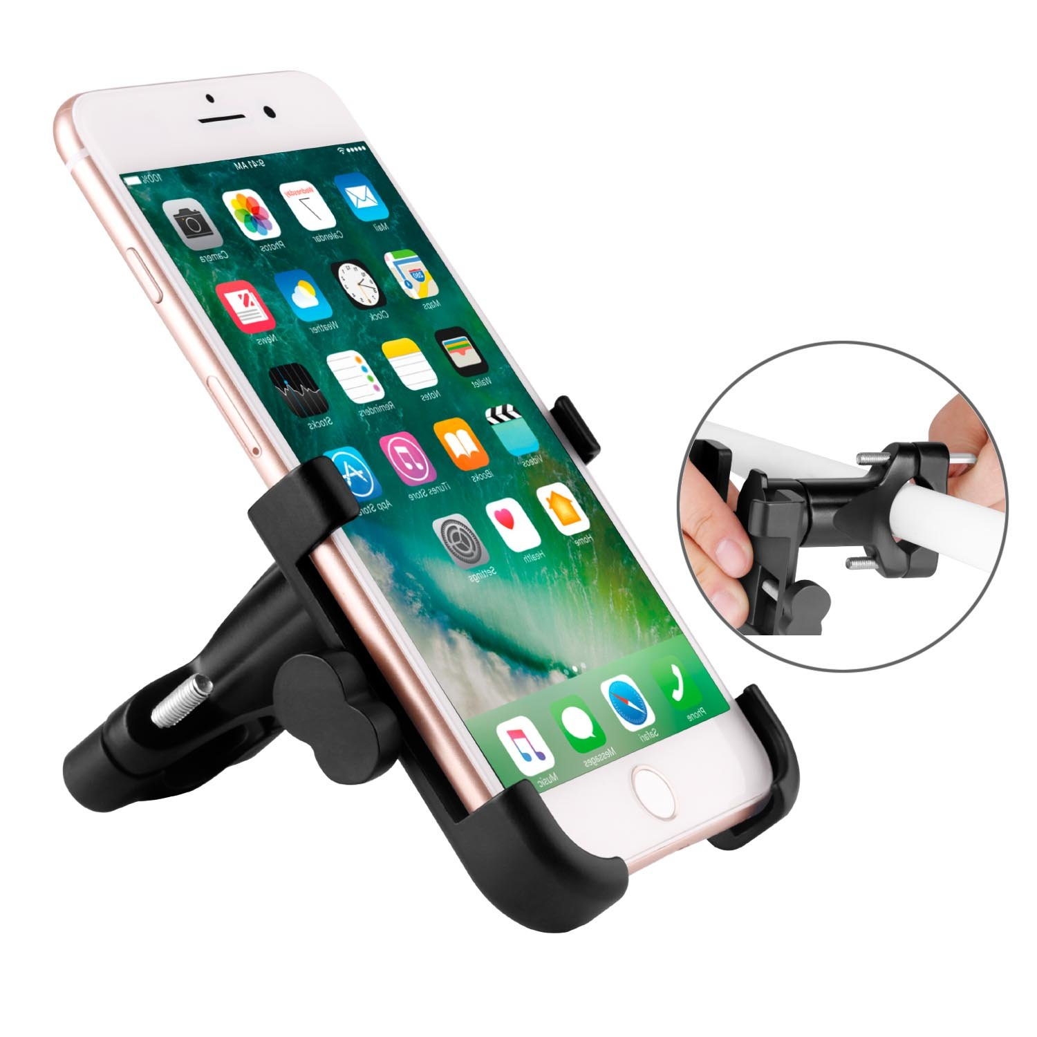 Venoro 8 S8//S8 Plus /& Other Mobile Smartphone Devices Black Samsung Galaxy S9//S9 Plus Bike Phone Mount XS X Universal Adjustable Aluminum Rolly Bicycle Handlebar Cell Phone Holder for iPhone XR
