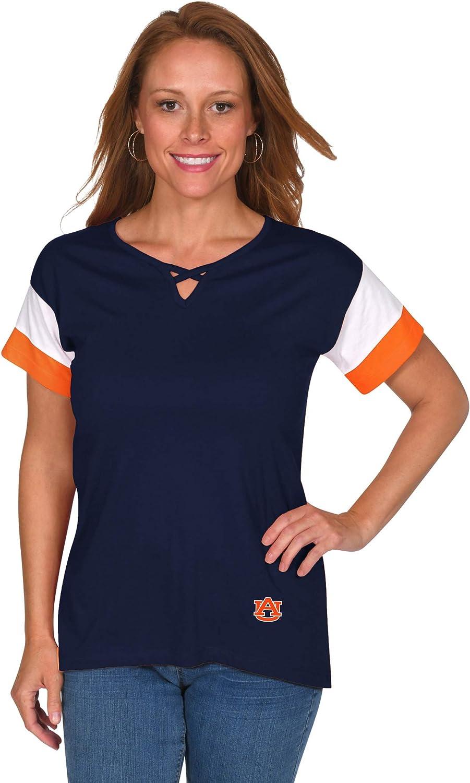 UG Apparel NCAA Womens Criss-Cross Colorblock Top