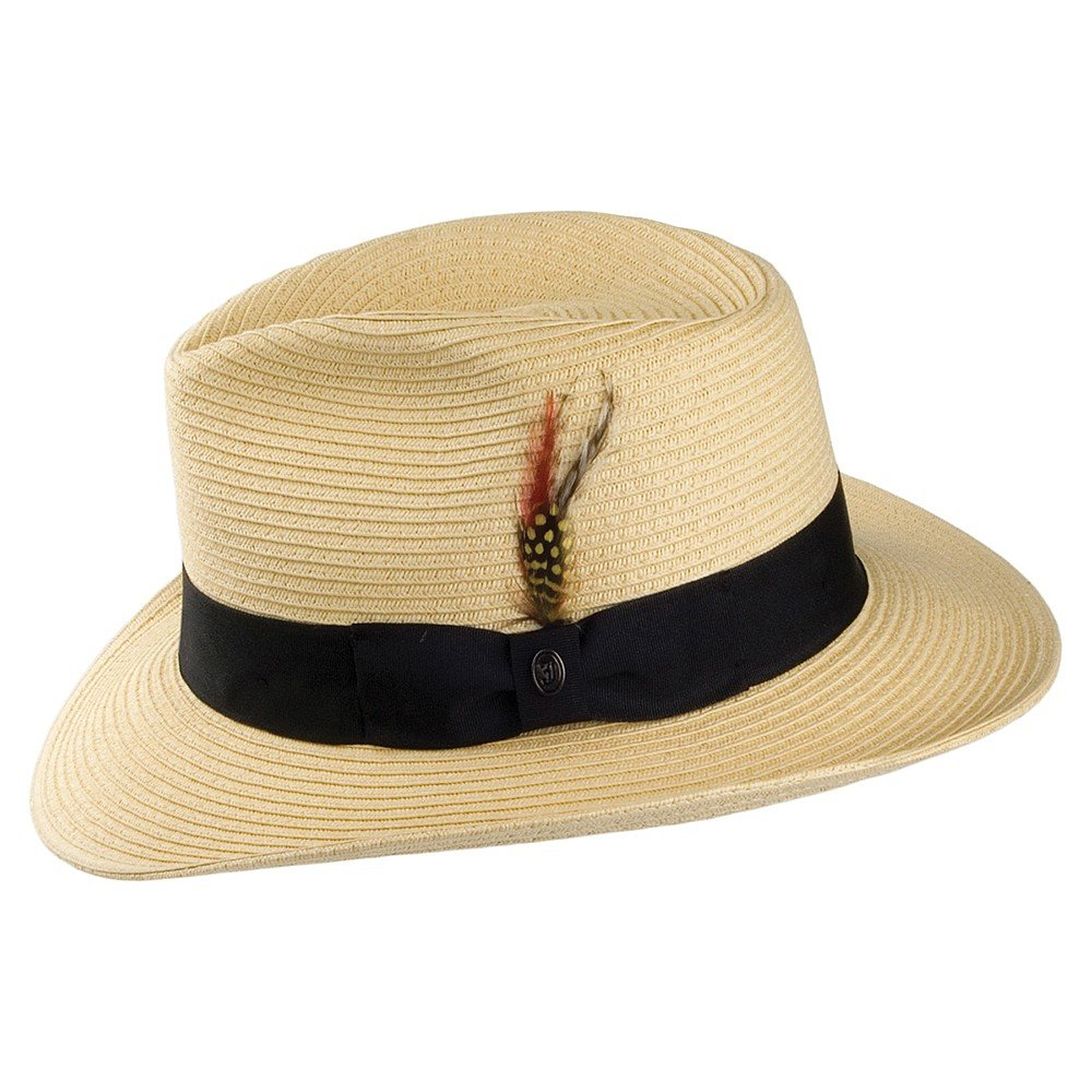 72ea1676 Jaxon & James Summer C- Crown Fedora - Natural: Amazon.co.uk: Clothing
