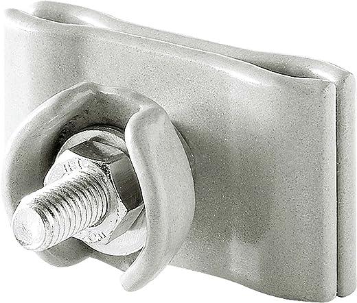 AEG Tragschelle DHZ TS, Für Tragseil und Heizkabel, Montagehilfe für Dachrinnenheizungen, Stahl emailliert, 184970