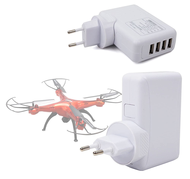 DURAGADGET Cargador De Viaje Blanco para Dron Syma X11C RC, X5HC ...