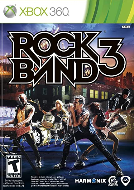 amazon com rock band 3 xbox 360 (game) video games Infernal Hell's Vengeance Xbox 360