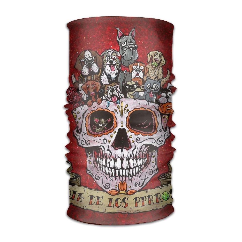 ファッションなデザイン 構築UシンプルラグビーTexas The FlagマップHeadwearバンダナ多機能ヘッドスカーフ B0775Q4PT5 Skull One Dogs Day Of Dead The Dead One Size, ミホノセキチョウ:c813f2e5 --- obara-daijiro.com