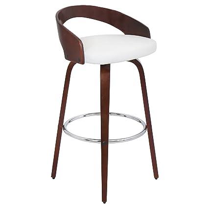 Peachy Lumisource Bs Jy Grt Ch W Grotto Modern Barstool Cherry White Evergreenethics Interior Chair Design Evergreenethicsorg