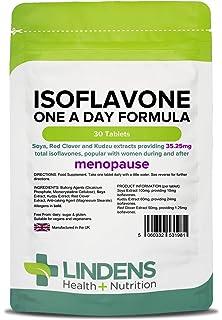 Lindens Fórmula diaria de isoflavona (soja+) en comprimidos | 30 Paquete | Contiene trébol